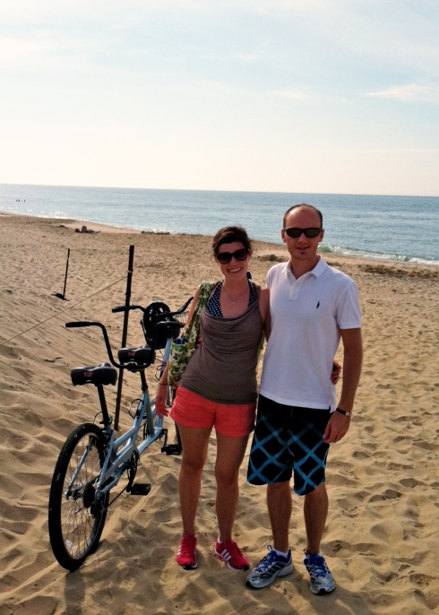 biked to the beach one morning