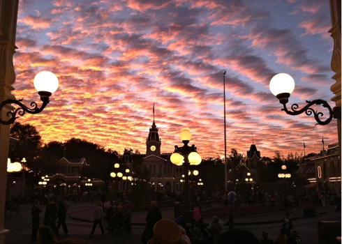disney at sunset